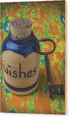 Bottle Of Wishes Wood Print by Garry Gay