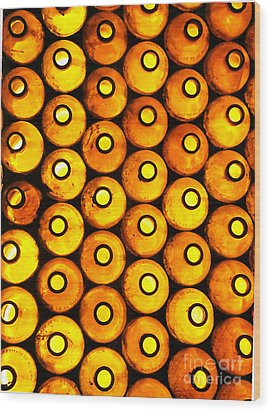 Wood Print featuring the photograph Bottle Pattern by Nareeta Martin