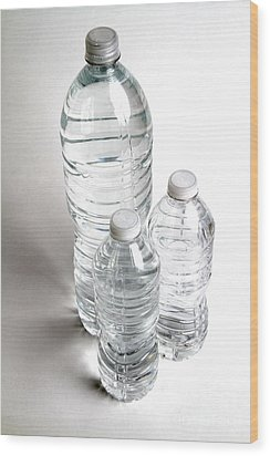 Bottled Water Wood Print by Photo Researchers