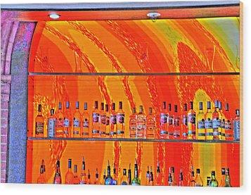 Bottles Wood Print by Barry R Jones Jr