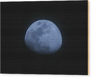 Bottomless Moon Wood Print by Louise Mingua
