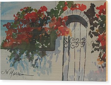 Bougainvillea At My Beach Cottage Wood Print by Jill Morris