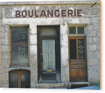 Boulangerie Wood Print by Georgia Fowler