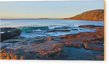 Boulder Bay Sunrise Wood Print by Paul Svensen