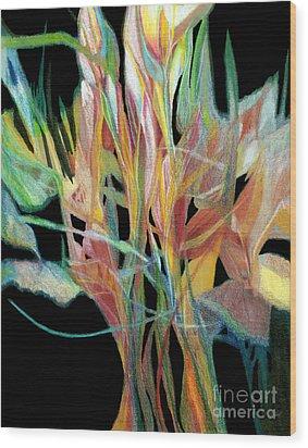 Bouquet Wood Print by Ann Powell
