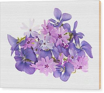 Bouquet Of Spring Flowers Wood Print by Elena Elisseeva