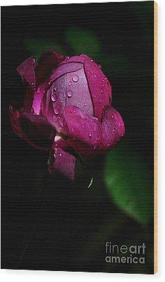 Wood Print featuring the photograph Bouton De Rose by Sylvie Leandre