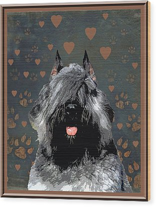 Bouvier Des Flandres Wood Print by One Rude Dawg Orcutt
