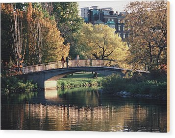 Bow Bridge Back Bay Boston Wood Print by Tom Wurl