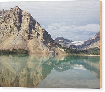 Bow Lake Wood Print by William Andrew