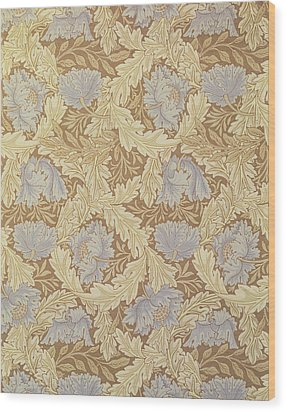 Bower Wallpaper Design Wood Print by William Morris
