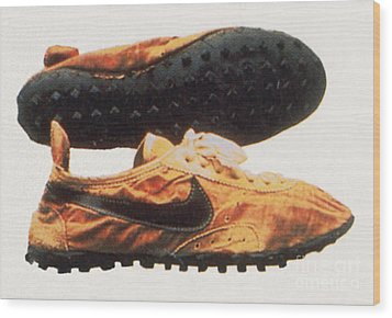 Bowermans Waffle Sole Design Wood Print by Photo Researchers