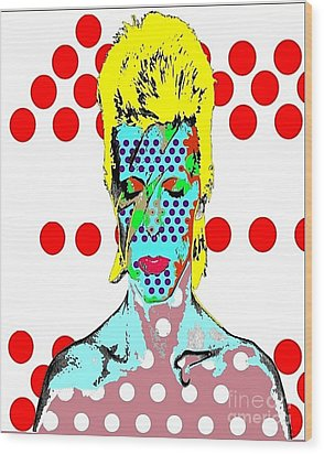 Bowie Wood Print by Ricky Sencion