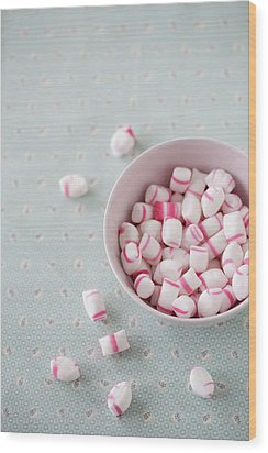 Bowl Of Sweets Wood Print by Elin Enger