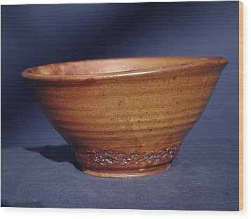 Bowl With Texture Wood Print by Rick Ahlvers