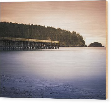 Bowman Bay Sunset Wood Print