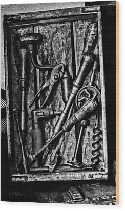 Boxed Set - Bw Wood Print by Christopher Holmes