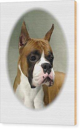 Boxer 1015 Wood Print by Larry Matthews