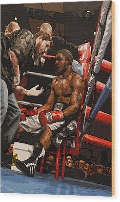 Boxer Wood Print by Wade Aiken