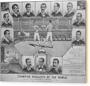 Boxing: American Champions Wood Print by Granger