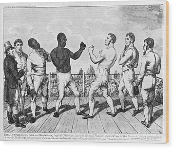 Boxing: Cribb V. Molineaux Wood Print by Granger