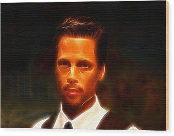 Brad Pitt II  Wood Print by Lee Dos Santos