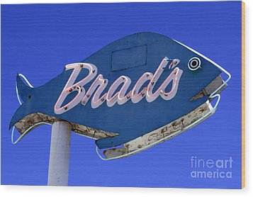 Wood Print featuring the photograph Brad's Fish by Denise Pohl