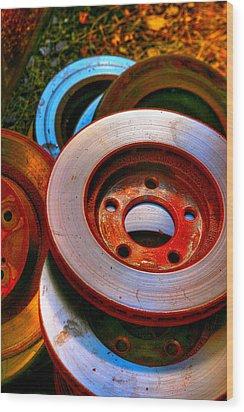 Brakes Wood Print by Terry Finegan