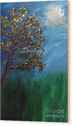 Branched Impressions Wood Print by Ayasha Loya