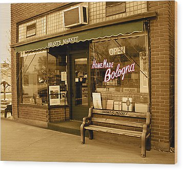 Brant's Market Wood Print by Steve Sperry