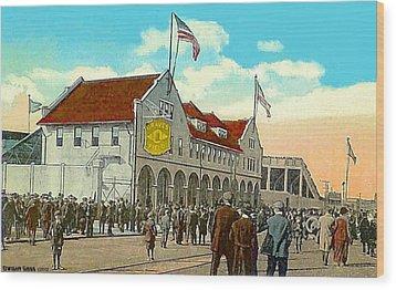 Braves' Field In Boston Ma In 1917 Wood Print by Dwight Goss
