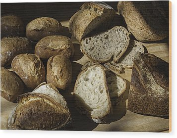 Bread Wood Print by Michael Wessel