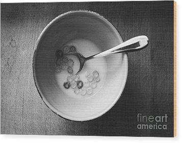 Breakfast Wood Print by Linda Woods