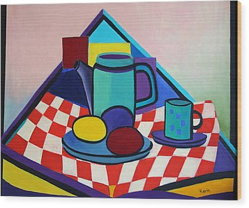 Breakfast With Eggs Wood Print by Karin Eisermann