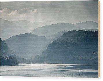 Breaking Through The Mist Wood Print