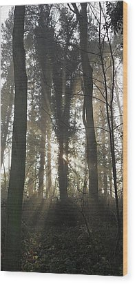 Breakthrough Wood Print by Michael Standen Smith