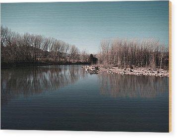 Breath Wood Print by Gabriel Calahorra