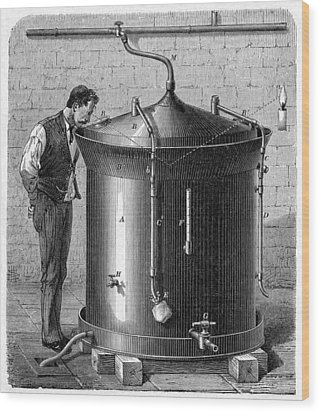 Brewery Vat, 19th Century Wood Print by Cci Archives