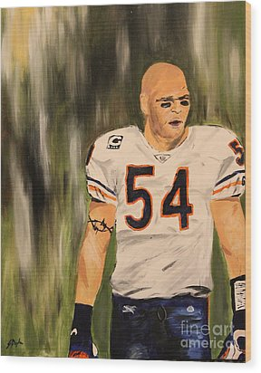 Brian Urlacher Wood Print