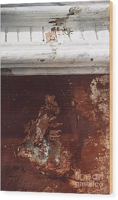 Wood Print featuring the photograph Brick Red Wall Detail by Agnieszka Kubica