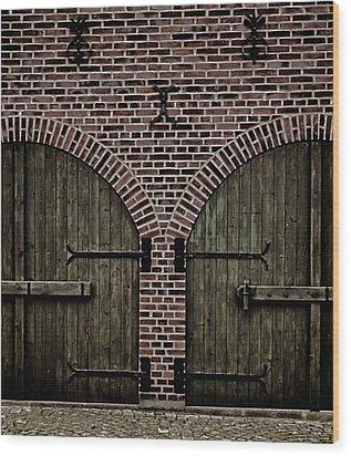 Brick Zipper Wood Print by Odd Jeppesen