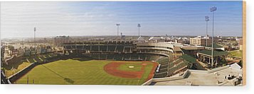 Bricktown Ballpark Wood Print by Ricky Barnard