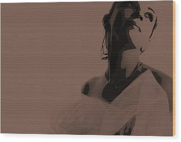 Bride Wood Print by Naxart Studio