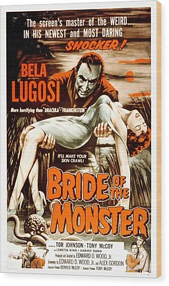 Bride Of The Monster, Bela Lugosi, 1955 Wood Print by Everett