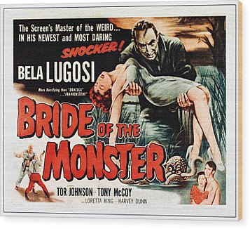 Bride Of The Monster, Top Bela Lugosi Wood Print by Everett