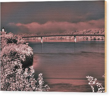 Wood Print featuring the photograph Bridge Across The Mo by William Fields