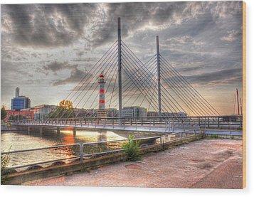 Bridge Wood Print by Barry R Jones Jr
