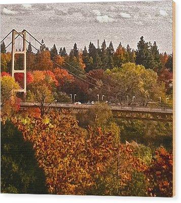 Wood Print featuring the photograph Bridge by Bill Owen