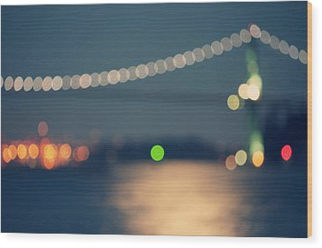 Bridge Bokeh! Wood Print by Arshia Mandegarian