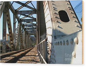 Bridge Wood Print by Henrik Lehnerer